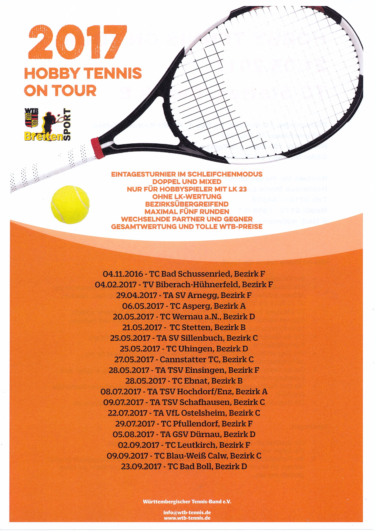 Hobby Tennis on Tour am 21.5.17 beim TCSR Stetten