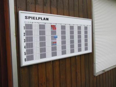 Spielplan Magnettafel